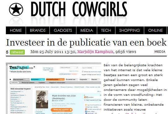 Sarah van Dee op Dutch Cowgirls